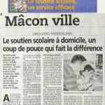 Article du 29.04.2008 Le soutien scolaire à domicile, un coup de pouce qui fait la différence
